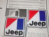 2 AMC Jeep emblem decal CJ5 CJ7 Wagoneer J10 J20 Renegade Cherokee BARGAIN
