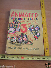 Animated Nursery Tales 3 Pigs Little Kittens Bears 1943 book