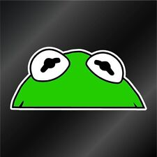 KERMIT THE FROG - PEAK A BOO decal - funny Muppet sticker