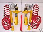 AUDI 80 89 CABRIO SUSPENSION LOWERING SPRINGS + SHOCKS