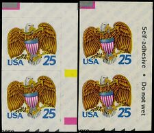 """#2431d """"EAGLE"""" 25¢ VERT PAIR, IMPERF BETWEEN MAJOR ERROR RIGHT CORNER BQ5248"""