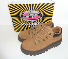 SKECHERS New Womens Suede Ladies Tan Memory Foam Chunky Trainers RRP £69 Size 6