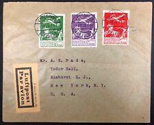 Denmark #C1,2,3 on 1926 Cover to New York