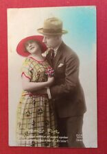 CPSM. 1923. Premier Flirt. Amour. Couple.
