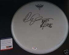 DRAKE AUBREY GRAHAM RARE 2X Signed Remo Drum Head 416 Auto PSA/DNA COA Autograph