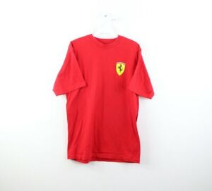 Vintage Scuderia Ferrari Mens Small Spell Out Crest Racing Short Sleeve Shirt