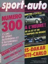 SPORT AUTO n°300 01/1987 MONTE CARLO DAKAR AMG 300E AVEC ENCART & POSTER