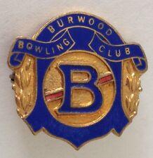 Burwood Bowling Club Badge Rare Vintage (K9)