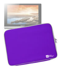 Neoprene Pouch Case with Dual Zipped Edge for Lenovo Yoga 10 Tablet in Purple
