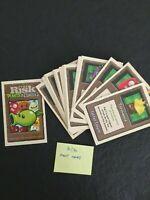 RISK PLANTS VS ZOMBIES REPLACEMENT PARTS - 30 Plant Faction Cards complete set