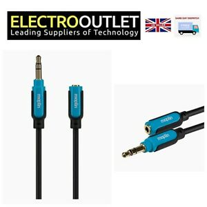 3.5mm Stereo 3 Pole Jack Extension Cable 10m 5m 1.5m