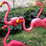 Set of 2/4 Pink Flamingo Bird Lawn Pond Ornaments Patio Garden Decoration Statue