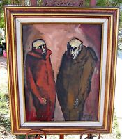 Listed Artist  Jose Echave, Mexico,  Original Oil, Framed, Vampire, Dracula