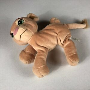 "Soft Purring Nala Plush Beans Disney 2002 Hasbro Lion King Rattle 10"" Stuffed"