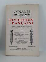 Rivista Annali Storici Della Revolution Francaise Luglio-Settembre 1962 N° 169