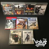 Sony PlayStation 3 Video Game Lot (9 Games): GTA IV, Uncharted 3, & More