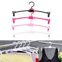 10Pcs Plastic Non-Slip Clothes Hanger Skirt Underwear Clothes Stand Hangers^THßß