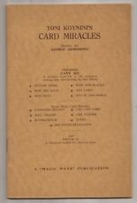 TONI KOYNINI'S CARD MIRACLES 1951 Edited by George Armstrong