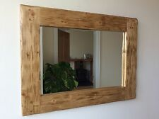 *Beautiful quality handmade chunky rustic wooden mirror*