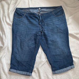 Old Navy Women Jeans Shorts Size 26 Plus Blue Bermuda Capri Denim