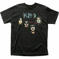 KISS Self-Titled Album T Shirt Mens Licensed Rock N Roll Music Band Tee Black