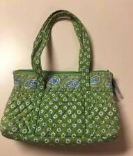 Vera Bradley Apple Green Little Betsy Shoulder Bag Handbag Purse Retired Pattern
