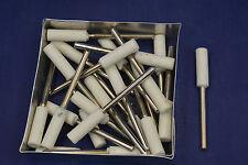 "25X 1/4 x 3/4"" LG Barrel White Grind Stone 1/8 shank bit Dremel's or Rotary Tool"