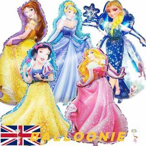 Large Princess Balloons Elsa Frozen Belle Aurora Snow White Cinderella Beauty