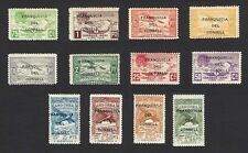 Andorra unlisted Airmail set 12v MNH overprinted FRANQUICIA DEL CONSELL