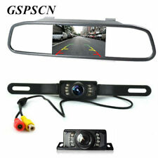 "4.3"" TFT LCD Car Mirror Monitor with Wired Rear View Reverse Camera Night Vision"