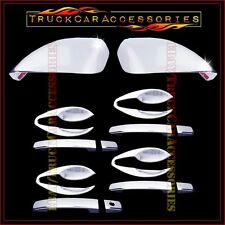 For NISSAN Altima 2013 Chrome Covers Set FULL Mirrors+4 Doors w/o+Door Inserts