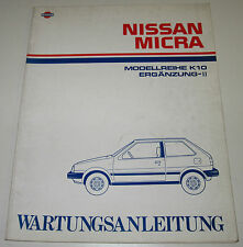 Werkstatthandbuch Ergänzung Nissan Micra K10 / K 10 Stand Februar 1985!