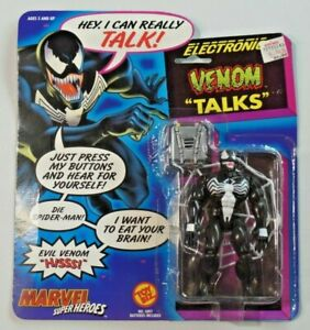 Vintage Toy Biz Marvel Super Heroes Electronic Venom Talks New on Card 1991