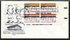 1987 United Way Centennial Sc 2275 FDC Artmaster plate block