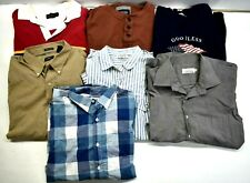 Lot of 7 Assorted Brands Men XXL 2XL Various Style Dress Casual Shirt T-Shirt