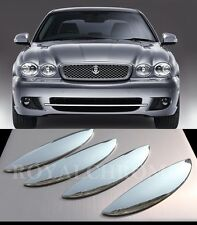 US STOCK Set x4  BRIGHT CHROME Door Handle Covers for Jaguar X Type X400 X-TYPE