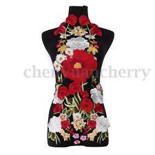 7pcs Lace Embroidered Venise Floral Rose Neckline Collar Trim Sewing Applique