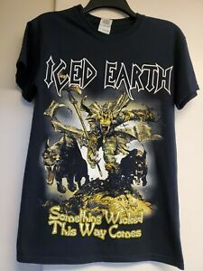 S ICED EARTH SOMETHING WICKED THIS WAY COMES Band Rock tee DEATH METAL