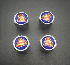 4PCS  Superman Tire Wheel Rims Stem Air Valve Caps Tyre Cover Car Truck Bike