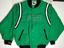 Mitchell & Ness New York JETS  Wool Throwback Jacket Size 50 fits like XL green