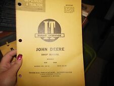 I&T SHOP SERVICE MANUAL JOHN DEERE JD-18 MODELS 435D 4401D