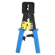 More details for rj45 network plier crimper connector crimp press tool end pass through tool uk