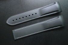 High quality 22mm Black watch band Rubber Diver Strap for OMEGA SEAMASTER