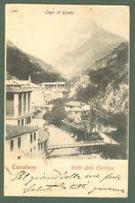 Lombardia. TOSCOLANO, Brescia. Valle delle Cartiere. Cartolina d'epoca viaggiata