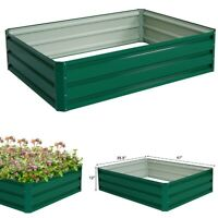 Galvanized Steel Raised Garden Planter Bed Planting Box Vegetable Flowers Seeds