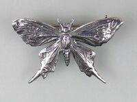 9901089 925er Silber Brosche Schmetterling  3x2cm
