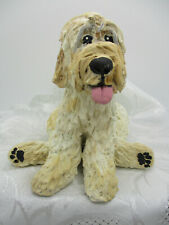 Goldendoodle Labradoodle Doodle Dog Handmade Painted Clay Sculpted Figurine 1097