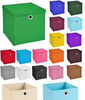 2er Set Aufbewahrungsbox Spielkiste Regalkorb Faltkiste Korb Kinderbox Stoff Box