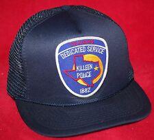 Vintage KILLEEN POLICE Training Patch Mesh Snapback Trucker HAT CAP TEXAS TX