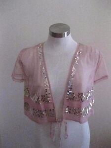 Ladies Antique Rose Bolero Jacket Euro Size 38 (AU Size 10) - BRAND NEW